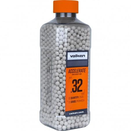 BBs - Valken ACCELERATE 0.32g-2500ct-White