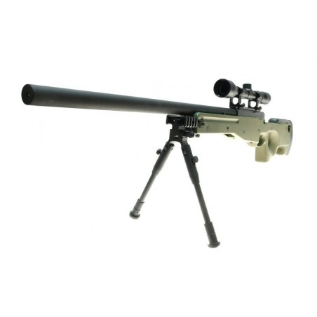 Warrior I sniper rifle replique (with scope and bipod) - olive