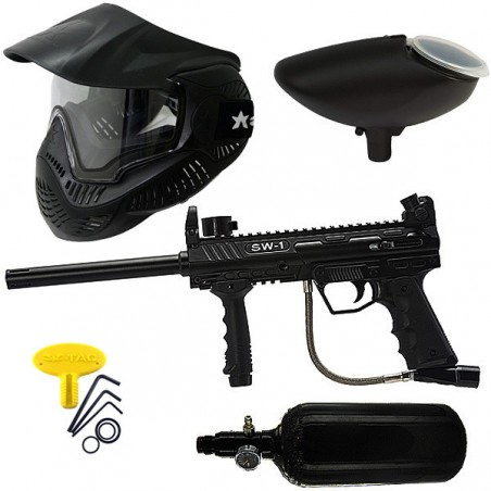 Kit de paintball SW1 air masque thermal MI-3 black