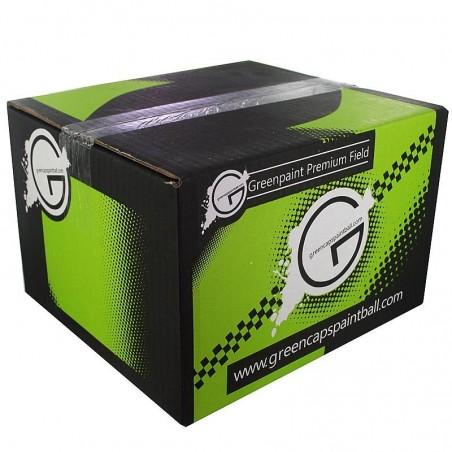 Billes paintball green Caps - Carton de 2000 billes paintball